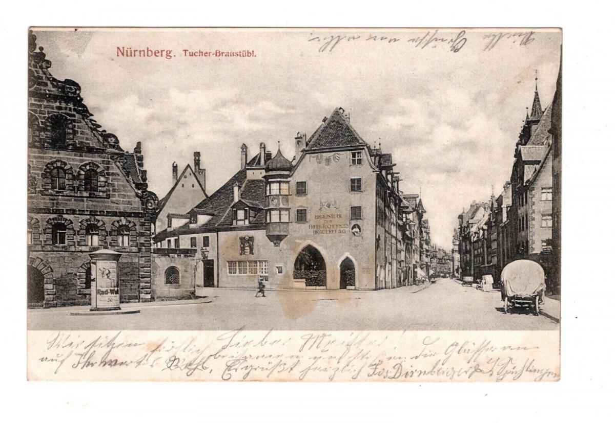 AK Mittelfranken Nürnberg Gaststätte Brauerei Tucher Bräustüberl 1904 0