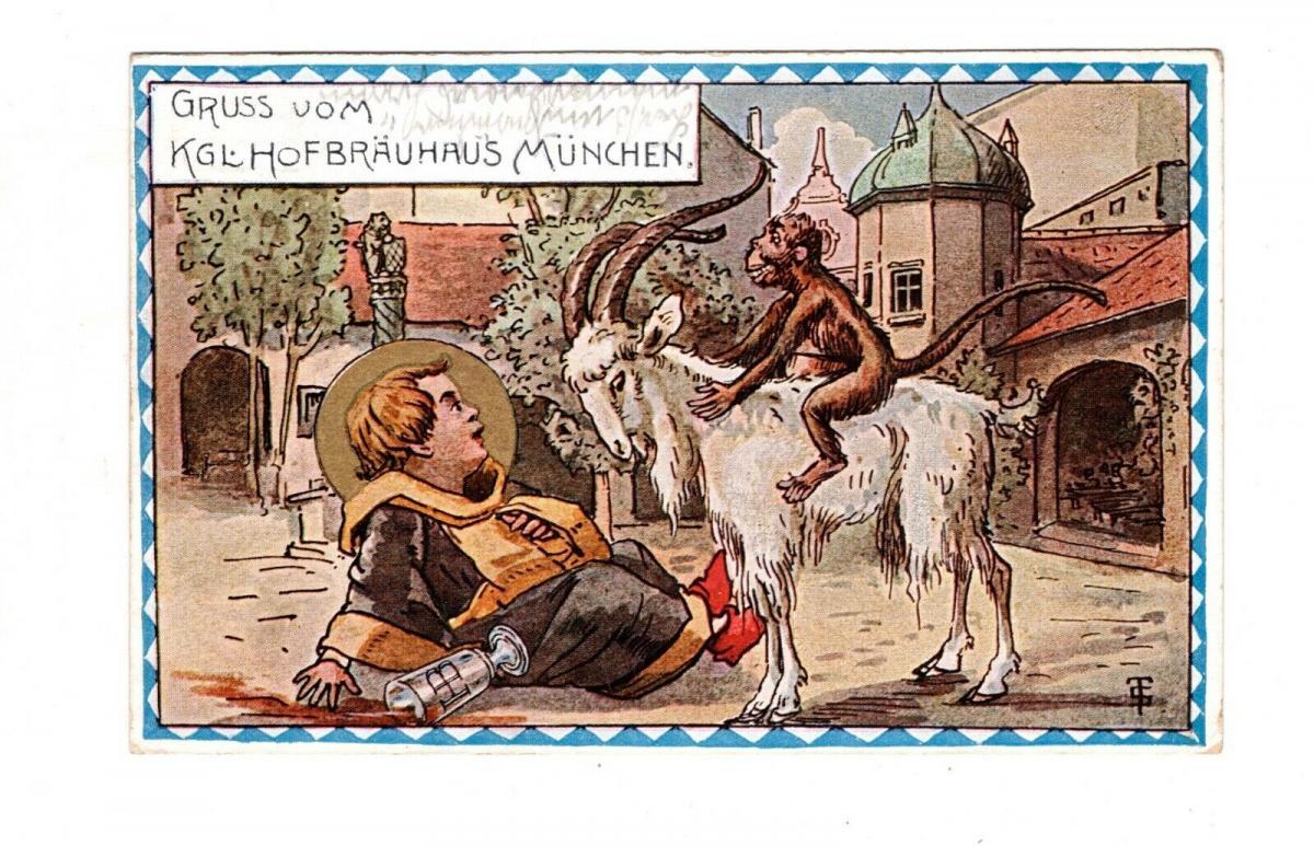 AK Oberbayern Königliches Hofbräuhaus München Lithographie 1915 0