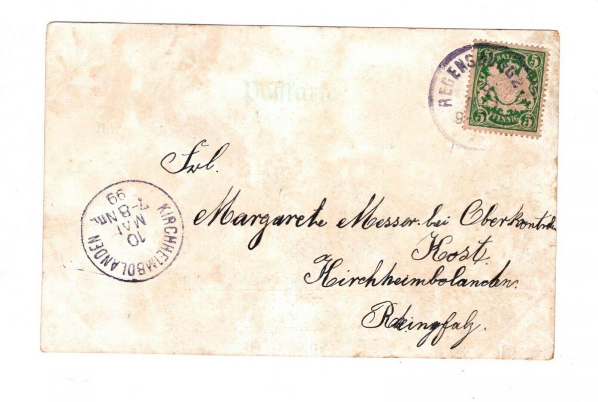 AK Oberpfalz Regensburg 150 Jahre Thurn & Taxis 1899 1