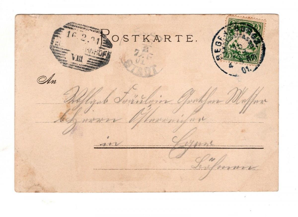 AK Niederbayern Befreiungshalle bei Kelheim 1901 Lithographie 1