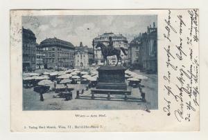 AK Österreich Wien - Am Hof  - Denkmal - Markt 1899