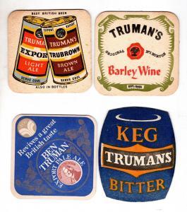 BD Alte Bierdeckel 4 x Großbritannien Brauerei Trumans Ale Bier