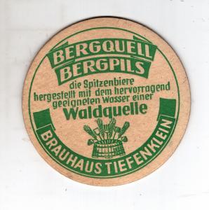 BD Alter Bierdeckel Oberfranken Brauhaus Tiefenklein bei.Küps Kronach + 1965