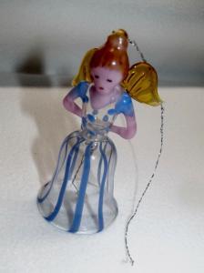 Weihnachten Engel Glocke Fadenglas Weihnachtsschmuck Christbaum Behang