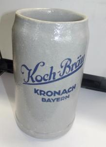 Maßkrug Bierkrug Brauerei Koch Kronach + 1966 Oberfranken