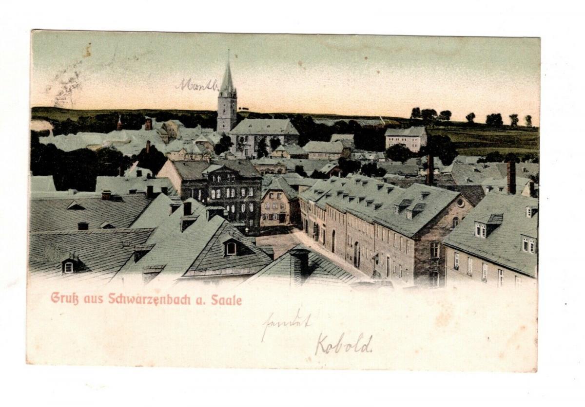 AK Oberfranken Schwarzenbach Saale 1906 Kreis Hof Stadt Ansicht 0
