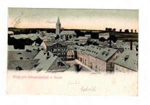AK Oberfranken Schwarzenbach Saale 1906 Kreis Hof Stadt Ansicht