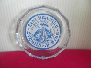 Werbe Aschenbecher Brauerei Schultheiss Bräu B. Leutheusser Weissenbrunn Kronach