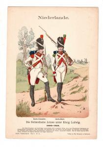 Original Grafik Knötel Uniformkunde Niederlande Holländische Armee 1806 #2