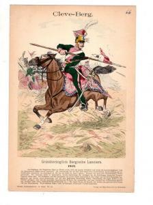 Original Grafik Knötel Uniformkunde Cleve Berg Bergische Lanciers 1812 #2
