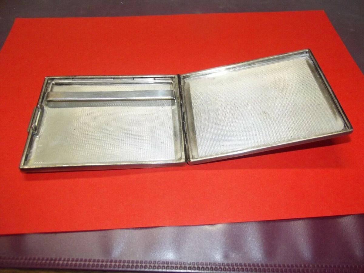 Antikes Zigaretten Etui 925er Silber 169 Gramm Zigarettenetui 1