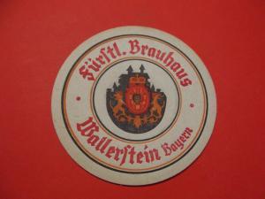 BD Alter Bierdeckel Brauerei Fürstliches Brauhaus Wallerstein Bayern
