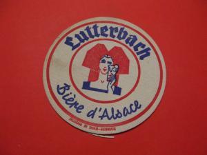 BD Alter Bierdeckel Frankreich Brauerei Lutterbach Biere d´Alsace