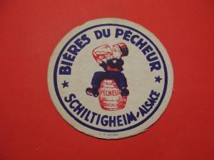 BD Alter Bierdeckel Frankreich Brauerei Biere du Pecheur