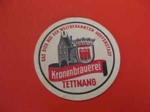 BD Alter Bierdeckel Brauerei Kronen Tettnang