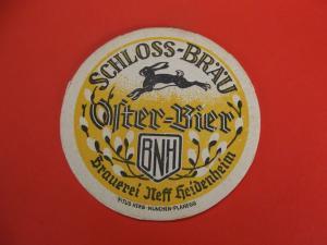 BD Alter Bierdeckel Brauerei Neff Heidenheim Impressum Oster Bier