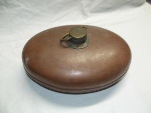 Wärmflasche Bettwärmer Kupfer mit Messingverschluss