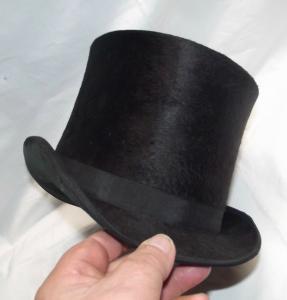 Maulwurfzylinder, Hut,Zylinder, kein Chapeau Klapp