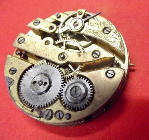 #1 /  Antikes Taschenuhr Werk Defekt für Bastler Ersatzteil