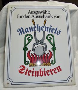 Emaille Email Schild Brauerei Rauchenfels Steinbiere