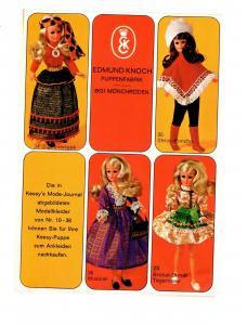 Reklame Prospekt Kessy Puppe Modellkleider Endmund Knoch Mönchröden bei Coburg