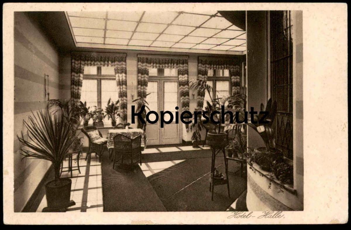 ALTE POSTKARTE MÜNSTER WESTFALEN HOTEL-HALLE HOTEL RESTAURANT KÜPPER-FECHTRUP MARIENPLATZ Ansichtskarte postcard cpa AK