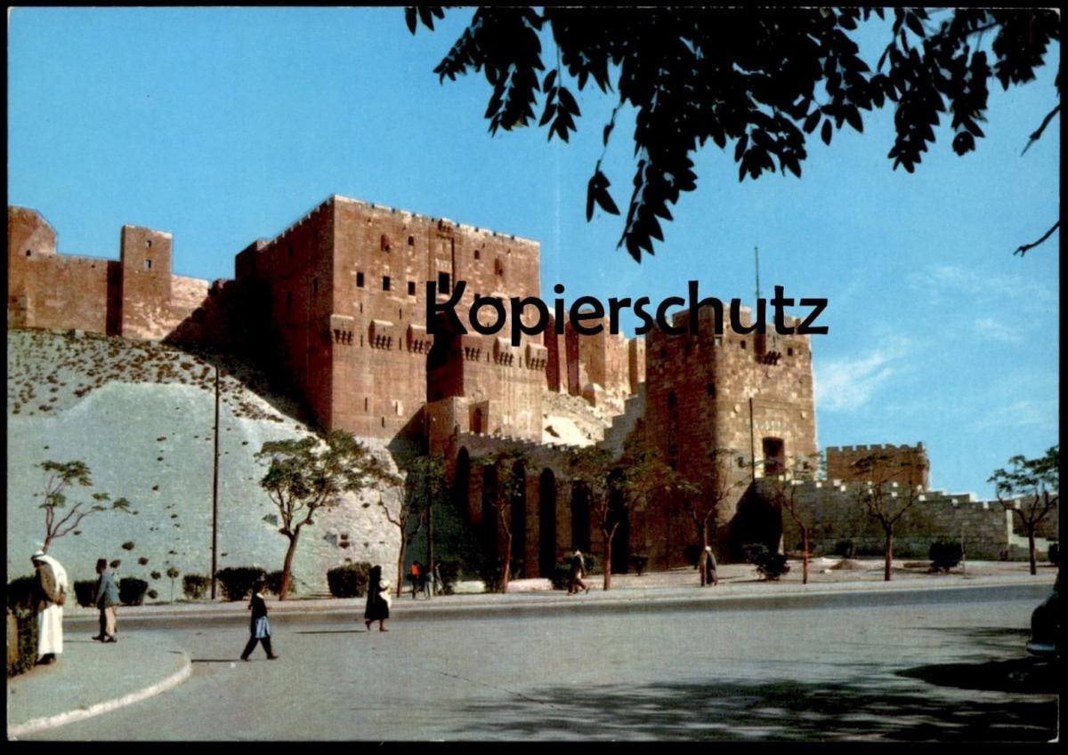 ÄLTERE POSTKARTE ALEPPO LA CITADELLE Alep The Citadel Syrie Syria Syrien cpa postcard Ansichtskarte AK