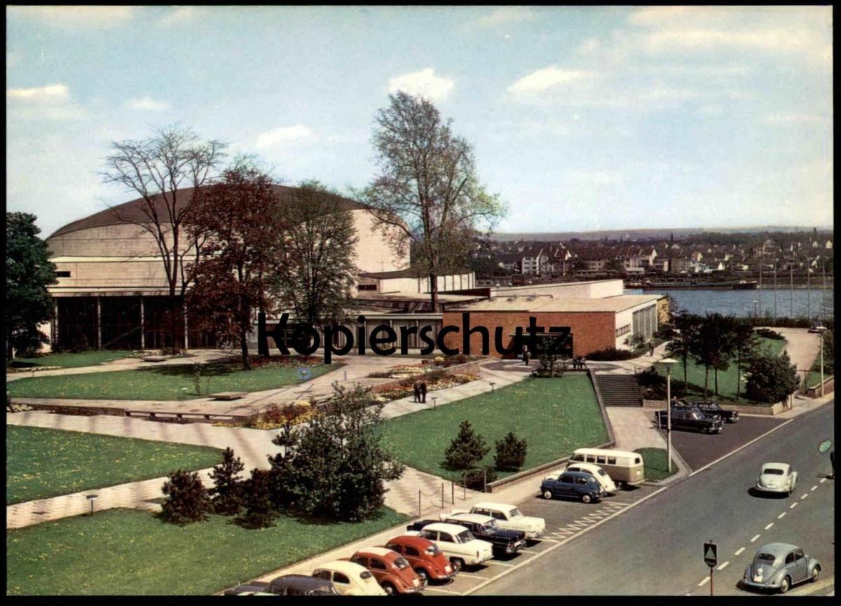 ÄLTERE POSTKARTE BONN BEETHOVENHALLE BEETHOVEN HALLE VW BUS KÄFER Coccinelle beetle Ansichtskarte AK cpa postcard