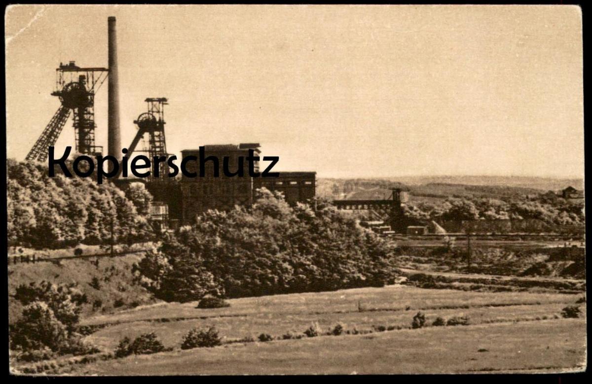 ALTE POSTKARTE GRUBE VELSEN ZECHE SCHACHT coal-mining mine de charbon Bergbau Saarbrücken Klarenthal Rosseltal AK