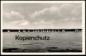 ALTE POSTKARTE ZEUTHEN MARK BRANDENBURG REGATTA AUF DEM ZEUTHENER SEE régate sailing regatta cpa postcard Ansichtskarte