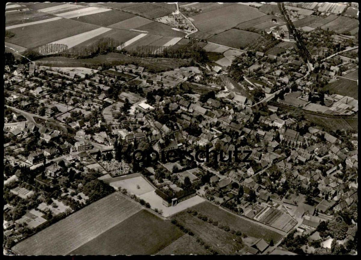 ÄLTERE POSTKARTE MÜNSTER WOLBECK FLIEGERAUFNAHME LUFTBILD Luftaufnahme Ansichtskarte AK cpa postcard