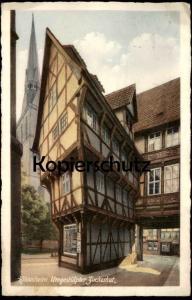 ALTE POSTKARTE HILDESHEIM UMGESTÜLPTER ZUCKERHUT Haus house cpa postcard Ansichtskarte AK