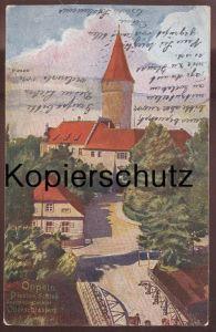 ALTE POSTKARTE OPPELN PIASTEN SCHLOSS ABSTIMMUNGSGEBIET OBERSCHLESIEN OPOLE Opoli Uopole 1921 Schlesien Polen poland cpa