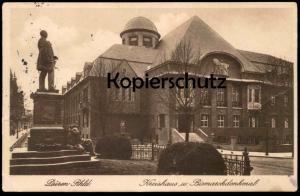 ALTE POSTKARTE DÜREN RHEINLAND KREISHAUS UND BISMARCKDENKMAL Dueren monument Bismarck Löwe lion postcard Ansichtskarte