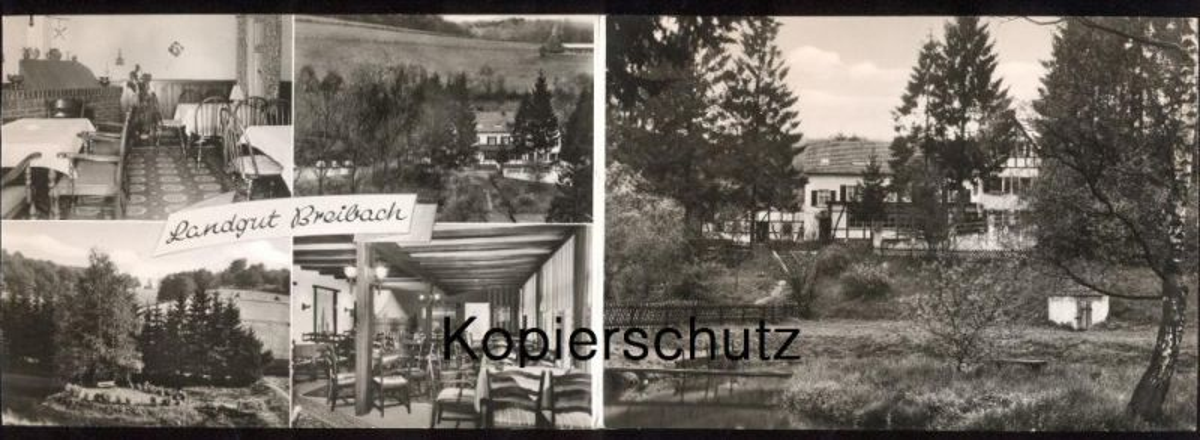 ÄLTERE DOPPEL- WERBE-POSTKARTE KÜRTEN LANDGUT BREIBACH BES. FAM. H. SCHMITZ Landkarte mit Eichhof Bechen Spitze Lindlar