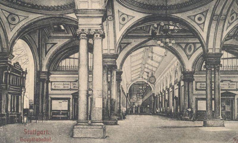 Baustoffe Luxemburg alte postkarte stuttgart hauptbahnhof innenansicht 1907 bahnhof