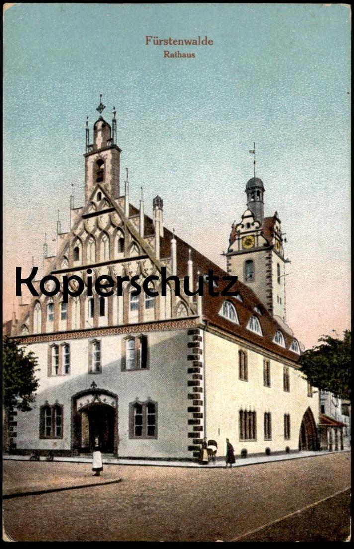 ALTE POSTKARTE FÜRSTENWALDE SPREE RATHAUS Brandenburg AK Ansichtskarte cpa postcard