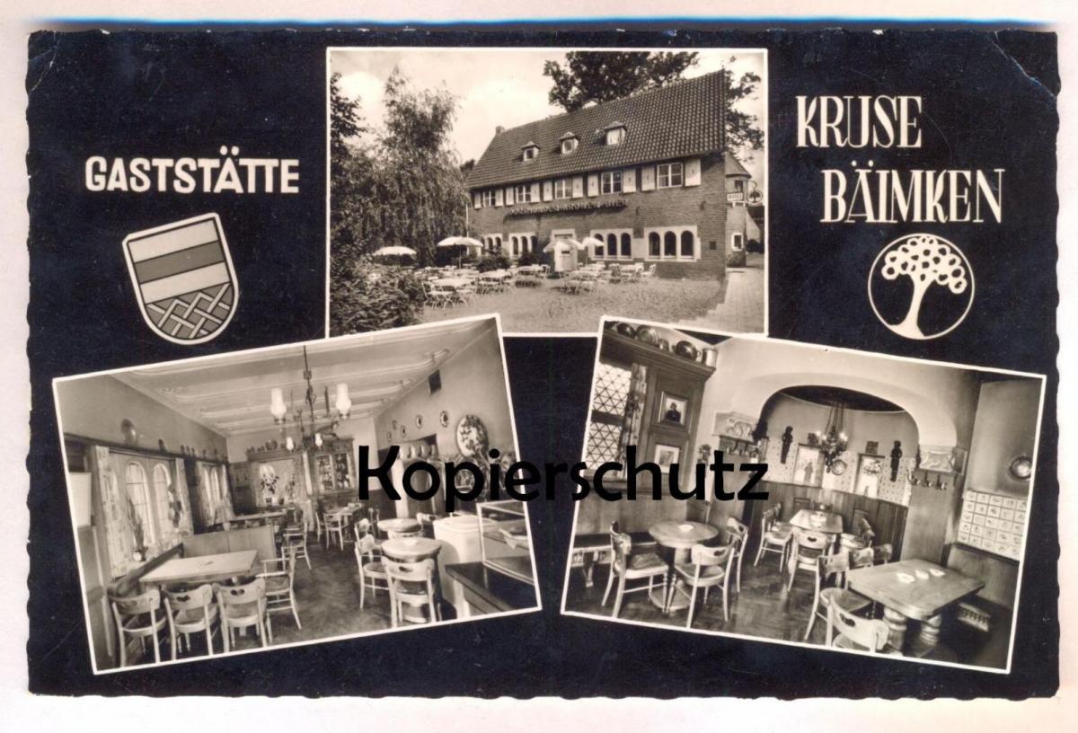 ÄLTERE POSTKARTE MÜNSTER WESTFALEN GASTSTÄTTE KRUSE-BAIMKEN Inh. Volz Dortmunder Kronen Bier Ansichtskarte AK postcard