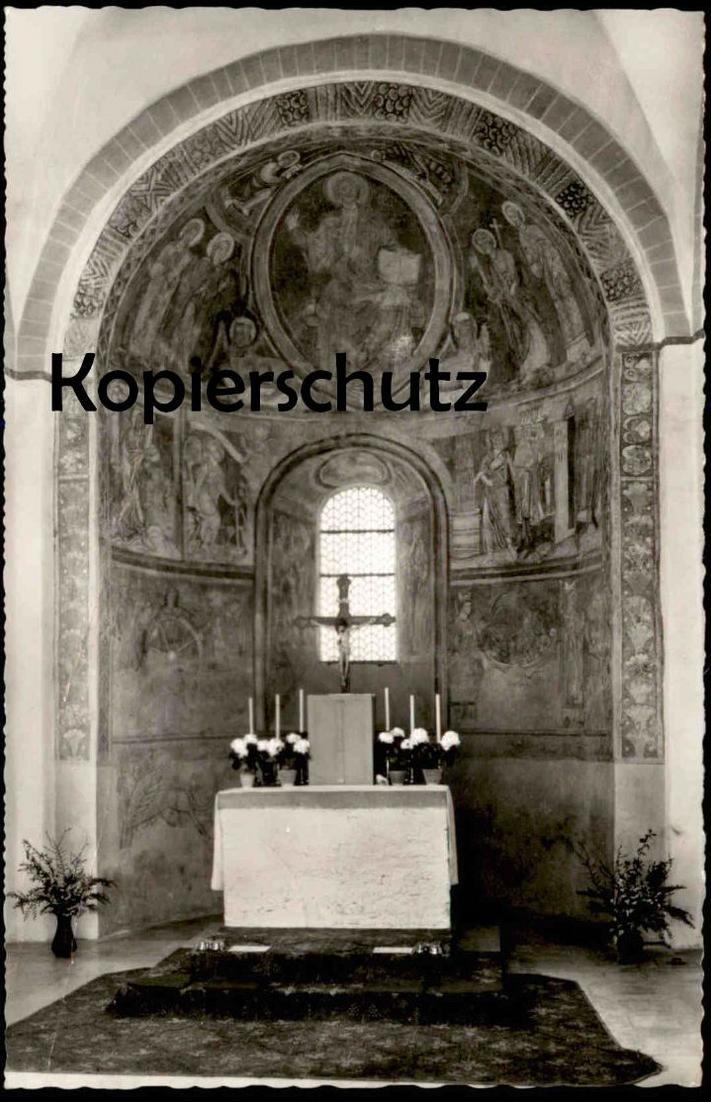 ÄLTERE POSTKARTE BERGHAUSEN APSIS MIT ALTAR KATHOLISCHE PFARRKIRCHE Schmallenberg Kirche Stempel Posthilfstelle