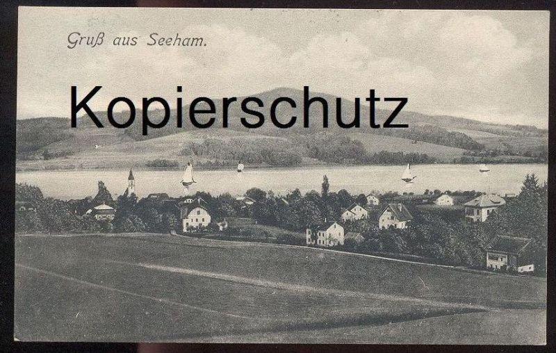 ALTE POSTKARTE GRUSS AUS SEEHAM OBERTRUMER SEE bei Mattsee Österreich Austria Autriche Ansichtskarte postcard cpa