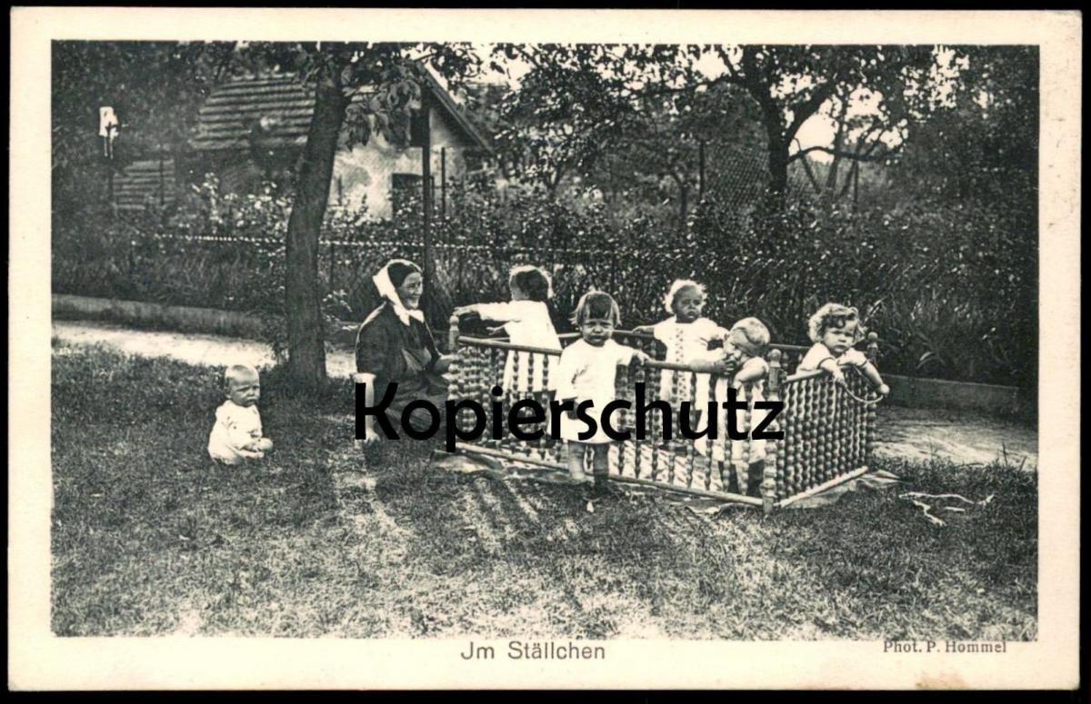 alte postkarte im st llchen speyer photo p hommel kinder. Black Bedroom Furniture Sets. Home Design Ideas