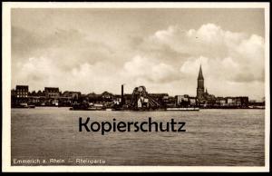 ALTE POSTKARTE EMMERICH AM RHEIN RHEINPARTIE Ansichtskarte AK cpa postcard