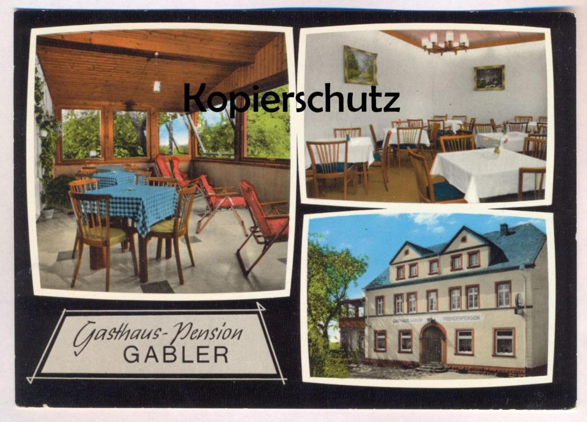 ÄLTERE POSTKARTE GASTHAUS-PENSION GABLER MALBERGWEICH Bitburger Land cpa postcard AK Ansichtskarte