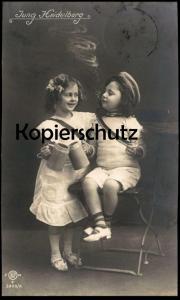 ALTE HUMOR POSTKARTE HEIDELBERG STUDENTICA STUDENTIKA ÉTUDIANT KINDER children enfants humour cpa AK postcard