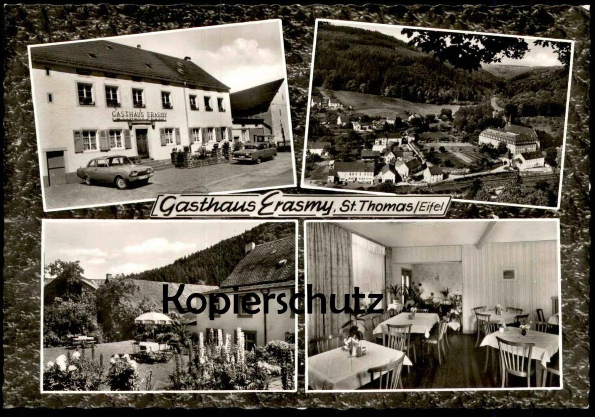 ÄLTERE POSTKARTE GASTHAUS ERASMY ST. THOMAS ÜBER BITBURG BEI KYLLBURG Bitburger Land cpa postcard AK Ansichtskarte