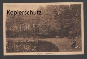 ALTE POSTKARTE MASUREN NIEDERSEE Schäfer Schafe Ostpreussen AK Ansichtskarte cpa postcard