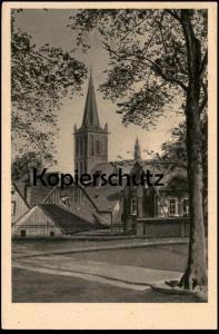ALTE POSTKARTE BOCHUM ALTSTADT MIT PROPSTEIKIRCHE Katholikentag 1949 Ansichtskarte AK postcard cpa