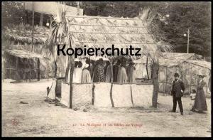 ALTE POSTKARTE LA MOSQUÉE ET SES FIDÈLES AU VILLAGE Tracht Senegal village Senegalois Africa postcard cpa Ansichtskarte