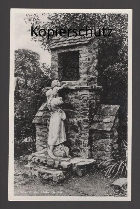 ALTE POSTKARTE DENKMAL DER GEBRÜDER GRIMM Märchen fairy tale fable cpa postcard AK Ansichtskarte