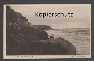 ALTE POSTKARTE OSTSEEBAD HEILIGENHAFEN AM HOHEN UFER Meer mer Baltique Baltic sea cpa AK postcard Ansichtskarte